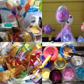 Planning our Easter Crafts at Rockliffe Hall